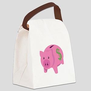 Piggy Bank Canvas Lunch Bag