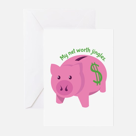 Net Worth Greeting Cards