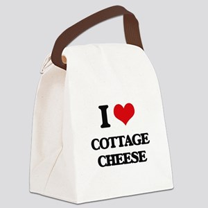 I love Cottage Cheese Canvas Lunch Bag