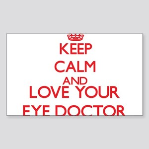 Keep Calm and love your Eye Doctor Sticker