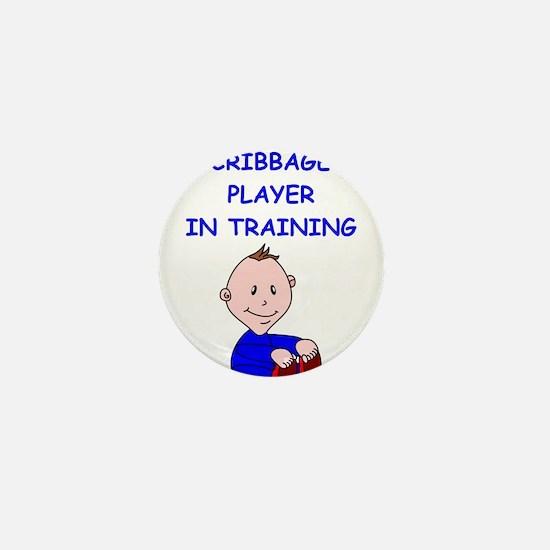 i love cribbage Mini Button