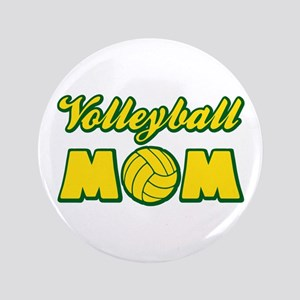 """VOLLEYBALL MOM 3.5"""" Button"""