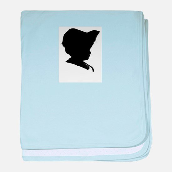 baby infant newborn silhouette cameo baby blanket