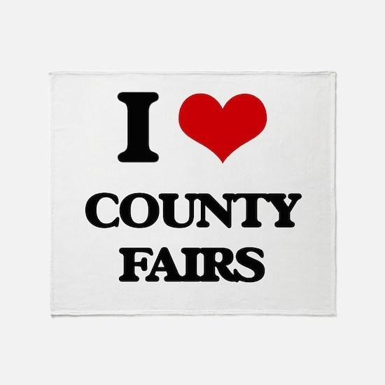 I love County Fairs Throw Blanket