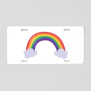 Rainbow Cloud Aluminum License Plate