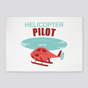 Helicopter Pilot 5'x7'Area Rug
