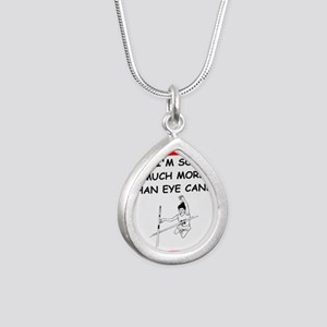 i love pole vaulting Necklaces