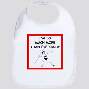 a funny javelin joke on gifts and t-shirts. Bib