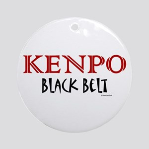 Kenpo Black Belt 1 Ornament (Round)