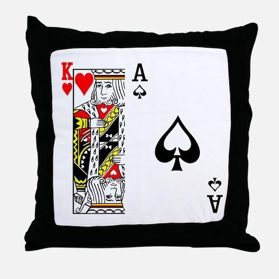 King Ace Throw Pillow