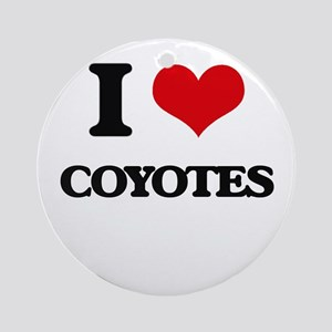 I love Coyotes Ornament (Round)