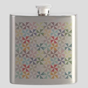 Colorful Geometric Pinwheel Flask
