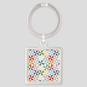 Colorful Geometric Pinwheel Keychains