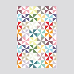 Colorful Geometric Pinwheel Posters