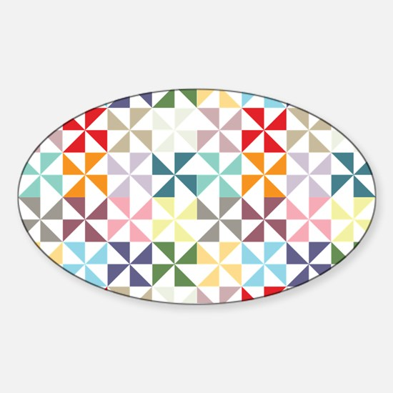 Colorful Geometric Pinwheel Decal
