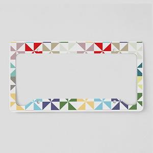 Colorful Geometric Pinwheel License Plate Holder