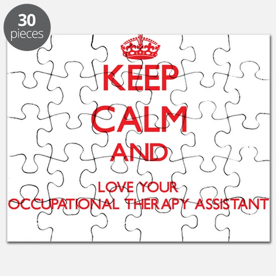 Keep Calm and love your Occupational Therap Puzzle