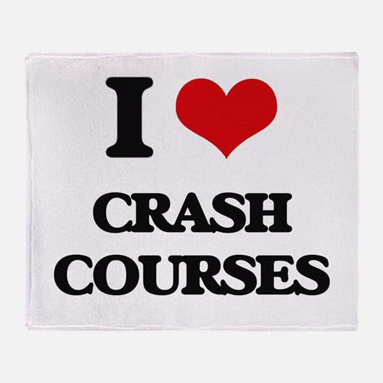 I love Crash Courses Throw Blanket