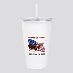 Land of the Free... Acrylic Double-wall Tumbler