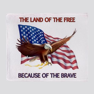 Land of the Free... Throw Blanket