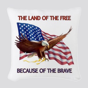 Land of the Free... Woven Throw Pillow