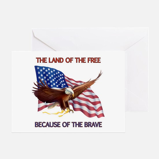 Land of the Free... Greeting Card
