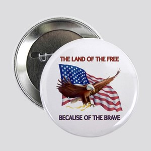 """Land of the Free... 2.25"""" Button (100 pack)"""