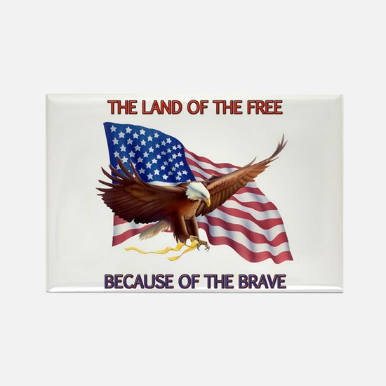Land of the Free... Rectangle Magnet