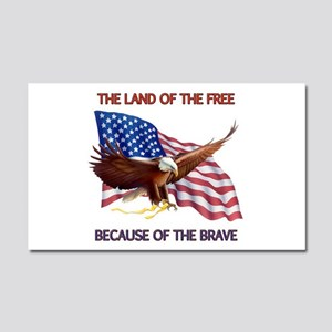 Land of the Free... Car Magnet 20 x 12