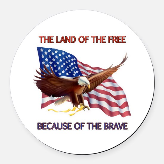 Land of the Free... Round Car Magnet