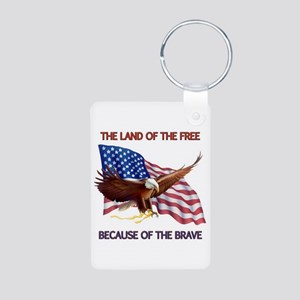 Land of the Free... Aluminum Photo Keychain