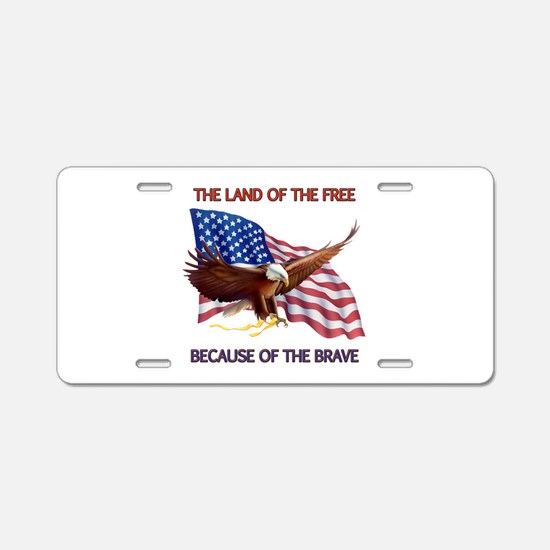 Land of the Free... Aluminum License Plate
