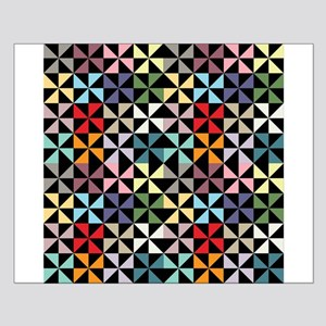 Colorful Pinwheels Black Posters