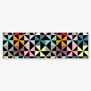 Colorful Pinwheels Black Bumper Sticker