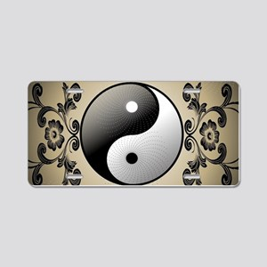 Ying and yang Aluminum License Plate