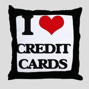 I love Credit Cards Throw Pillow