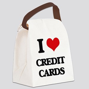 I love Credit Cards Canvas Lunch Bag