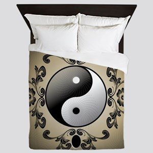Ying and yang Queen Duvet