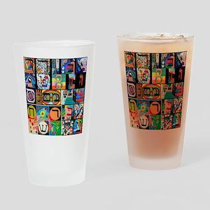 The Hebrew Alphabet Drinking Glass