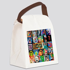 The Hebrew Alphabet Canvas Lunch Bag