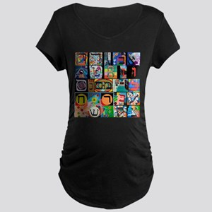 The Hebrew Alphabet Maternity T-Shirt