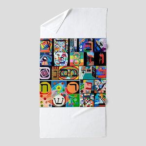 The Hebrew Alphabet Beach Towel