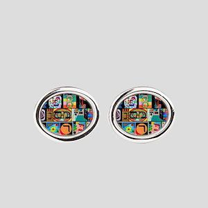 The Hebrew Alphabet Oval Cufflinks