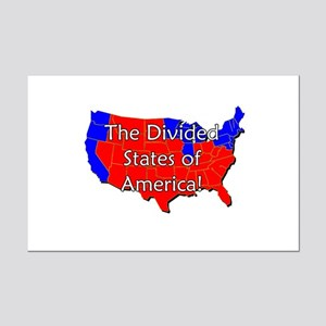 Divided States of America Mini Poster Print