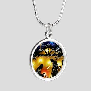 Baby Jesus Silver Round Necklace