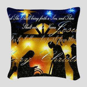 Baby Jesus Woven Throw Pillow