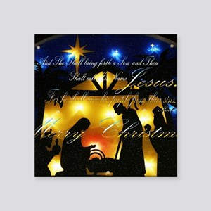 "Baby Jesus Square Sticker 3"" x 3"""