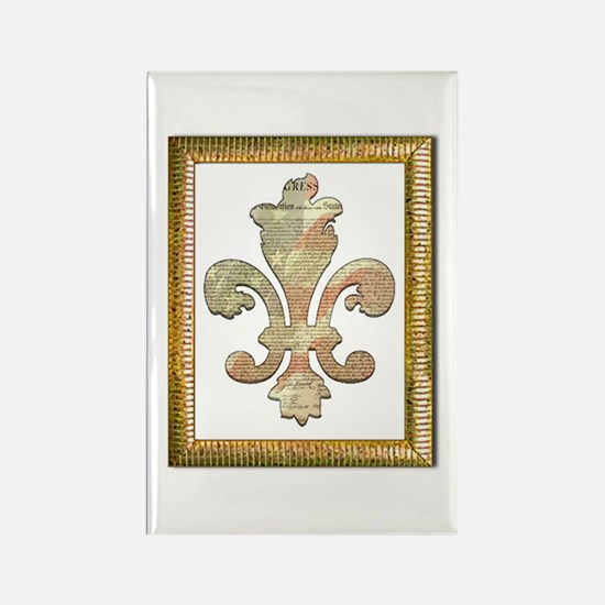 Independence Fleur de lis 2 Rectangle Magnet