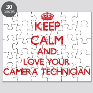 Keep Calm and love your Camera Technician Puzzle