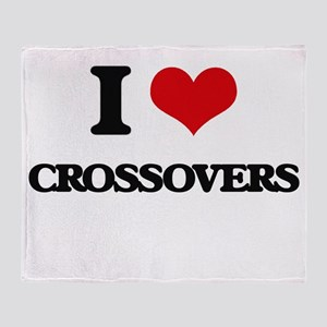 I love Crossovers Throw Blanket